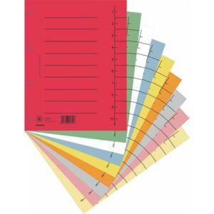 Elválasztó regiszter A4 Donau karton vegyes színek 5x25ív/csom Iratrendezés DONAU 8610001S-99