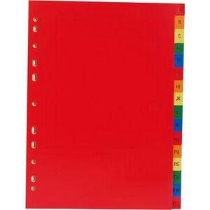Elválasztó regiszter A4 Victoria műanyag A-Z-ig színes Iratrendezés Victoria