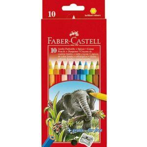 Faber-Castell színes ceruza 10db Jumbo hegyezővel vastag 111210 névreszóló ceruza 111210