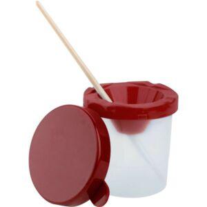 Faber-Castell ecsettál levehető fedeles, borulásmentes piros prémium minőségű termék 5005/P