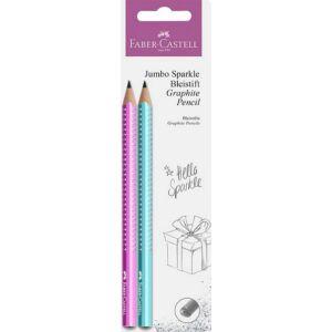 Faber-Castell HB grafitceruza Sparkle Jumbo gyöngyházfény pink türkiz 111678