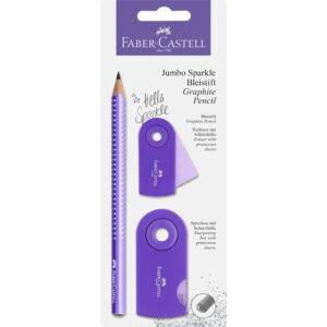 Faber-Castell HB grafitceruza Sparkle Jumbo gyöngyházfény lila purple 111675