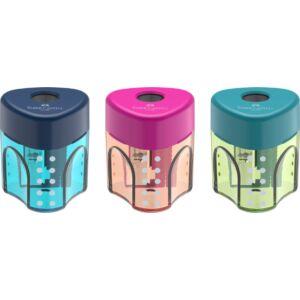 Faber-Castell hegyező 1lyukú Grip mini tartályos trendi színek prémium minőségű termék 183405