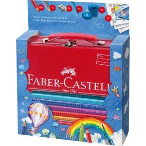 Faber-Castell színes ceruza 18+4-es szett Jumbo Grip fém bőröndben 201 312 201 312