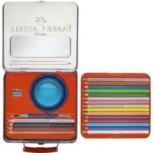Faber-Castell színes ceruza 18+4-es Grip Jumbo szett fém bőröndben 201 352 201 352