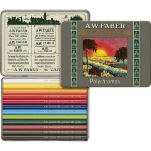 Faber-Castell színes ceruza 12db fémdobozos PolyChromos művész színes ceruza Art
