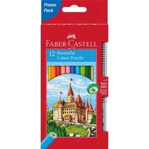 Faber-Castell színes ceruza 12db+1 Grip grafitceruza várak vár Faber-Castell 115850 törésállóheggyel 11