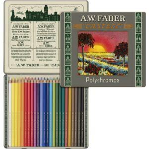 Faber-Castell színes ceruza 24db -os fémdobozos készlet, PolyChromos művész Art