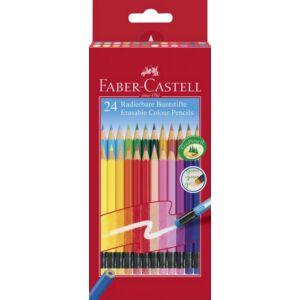 Faber-Castell színes ceruza 24db -os radíros véggel 116625 . 116625
