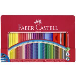 Faber-Castell színes ceruza 48db Grip Akvarell fémdobozos 112448 grafitceruza+ecset+hegyező 112448