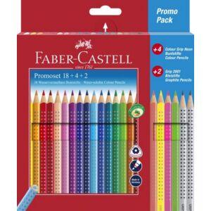 Faber-Castell színes ceruza 18db Grip+4db Neon+2db grafitceruza FC-Promóciós készlet 201540