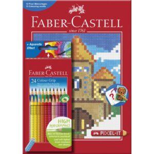 Faber-Castell színes ceruza 24db -os Grip 2001 pixel színező könyv 201436