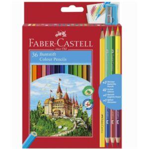 Faber-Castell színes ceruza 36+3 +1 darabos. vár várak törésállóheggyel 110336