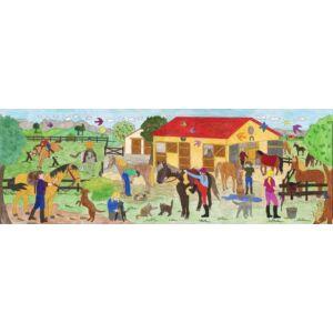 Faber-Castell színező tekercs 30cmx3, 2méteres Póni farm mintával FC-Színező tekercs 201644 201644