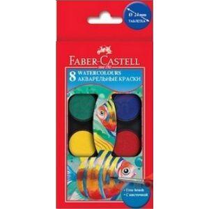 Faber-Castell vízfesték 8db 24 mm korongokkal vízbázisú festék prémium minőségű termék 125008A
