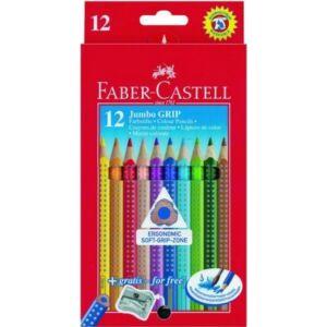 Faber-Castell színes ceruza 12db Grip Jumbo Akvarell Háromszög alakú 110912
