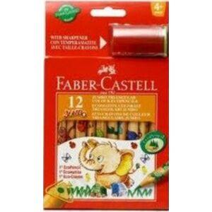 Faber-Castell színes ceruza 12db jumbo +faragó mintás festett ceruza test 123012eu 1165