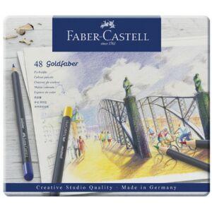 Faber-Castell művészceruza 48db AG-ceruza Goldfaber fém dobozban 114748