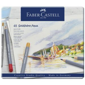 Faber-Castell művészceruza 48db AG-ceruza Goldfaber Akvarell fém dobozban 114648