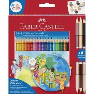 Faber-Castell színes ceruza 20+3db Grip + bicolor 6 bőrszín