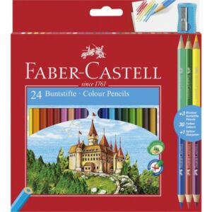 Faber-Castell színes ceruza 24+3db ceruza készlet vár várak törésállóheggyel 110324