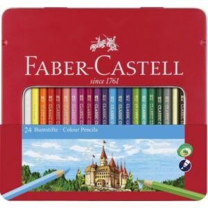 Faber-Castell színes ceruza 24db -os készlet kastély fémdobozban 115 845 115 824