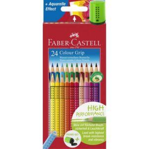 Faber-Castell színes ceruza 24db -os FC-ceruza készlet Grip + hegyező