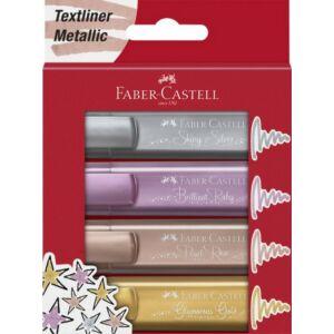 Faber-Castell szövegkiemelő Textliner 1546 4db készlet metál 154640