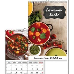 Falinaptár spirálozott 2021 T-Calendar, 23x33cm-es, Ételreceptek