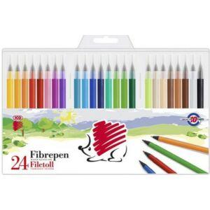 Filctoll 24-es készlet Süni m 1mm filckészlet marker, filctoll gyerekeknek