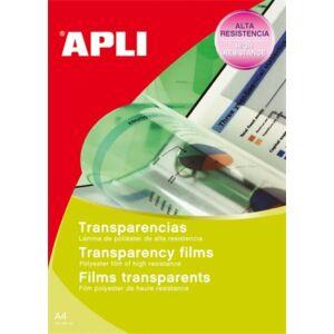 Írásvetitő fólia A4 Apli fekete-fehér lézernyomtatóba 100lap Prezentáció APLI 01062