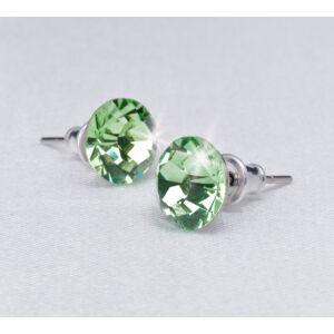 Swarovski fülbevaló Hölgyeknek 1 kristályos, fern green, 8mm MADE WITH SWAROVSKI ELEMENTS