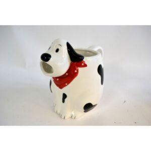 Kancsó kerámia kutyusos kendővel, 19,5x12,4x16,5cm