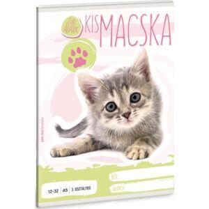 Füzet 12-32 A5 vonalas Ars Una Cuki Kismacska kollekció 3.osztályos prémium minőségű füzet