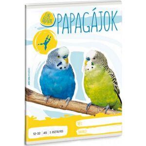 Füzet 12-32 A5 vonalas Ars Una Cuki Papagáj kollekció 3.osztályos prémium minőségű füzet
