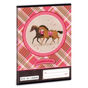 Füzet 12-32 A5 vonalas Ars Una Charming Stars lovas 18' 3.osztályos prémium minőségű füzet