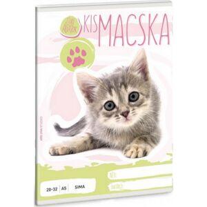 Füzet 20-32 A5 sima Ars Una 20 Cuki állatok kollekció Kismacska prémium minőségű termék