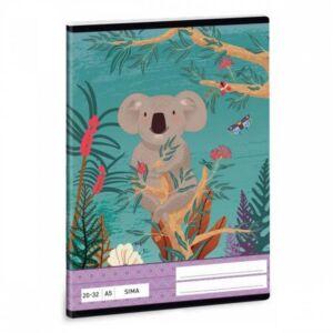 Füzet 20-32 A5 sima Ars Una Kirra Koala (5044) 21 Prémium minőségű füzet