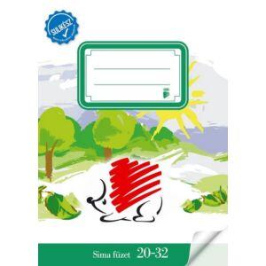 Füzet 20-32 A5 sima ICO Sulikész fóliával kötött sima füzet Ico Süni iskolaszezonos tanszerek