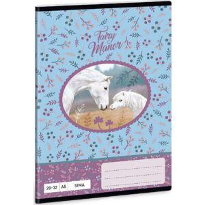 Füzet 20-32 A5 sima Ars Una Fairy Manor tündérvilág lovas 18 prémium minőségű termék