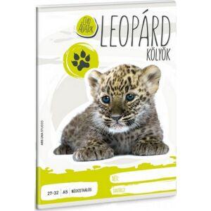 Füzet 27-32 A5 kockás Ars Una Cuki állatok kollekció Leopárdkölyök 20' prémium füzet négyzethálós