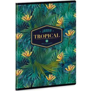Füzet 27-40 A5 kockás Ars Una Tropical Florida - virágos 40lap 19' prémium füzet négyzethálós