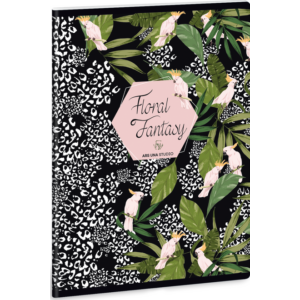 Füzet 31-40 A5 szótár Ars Una Floral Fantasy Kakadu 40lap 19' prámium füzet