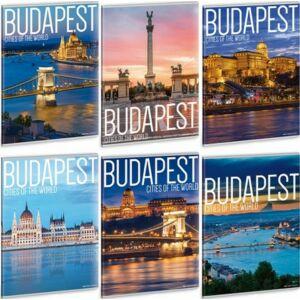 Füzet 81-40 A4 vonalas Ars Una City of Budapest - Budapest 40lap 19'