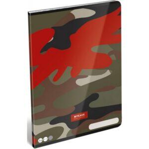 Füzet 87-32 A4 kockás Lizzy Peace-Red Label 21' Lizzy kollekció