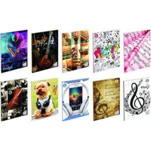 Füzet 36-16 A5 hangjegy T-Creativ 16lapos 70g-os, 200g-os borító nem választható vegyes mintával