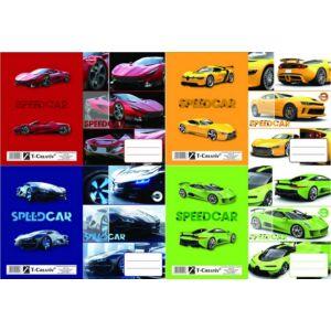 Füzetborító A5 Cars vegyes T-Creativ bujtatós / autós / tankönyv és füzetborító kollekció
