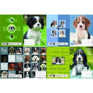 Füzetborító A5 Dogs vegyes T-Creativ bujtatós / kutyás / tankönyv és füzetborító kollekció
