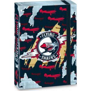 Füzetbox A4 cápa 20' Flying Shark - repülő - Ars Una iskolaszezonos füzet, könyv tárolók