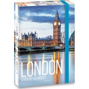 Füzetbox A4 London 20' Cities London - Ars Una iskolaszezonos füzet, könyv tárolók